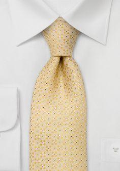 Floral Yellow Designer Silk Tie | Bows-N-Ties.com
