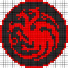 Game Of Thrones Targaryen Sigil Perler Bead Pattern | Bead Sprites | Misc Fuse Bead Patterns