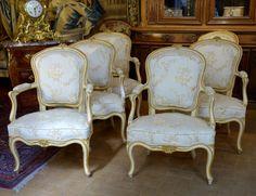 Suite De Six Fauteuils Epoque Louis XV, Laurence Helmer et Maison James, Proantic