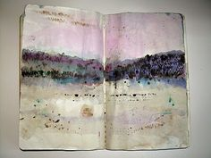 asemic journal from Donna Maria de Creeft - love the colors