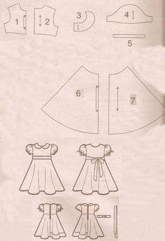 Feito a Mão por Juliana Melo: Ref: 127 - Molde de vestidos infantis                                                                                                                                                      Mais