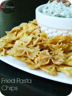 Mom's Test Kitchen: Fried Pasta Chips