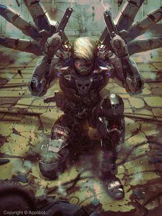 #cyberpunk #art #graphic #future by Atey Ghailan