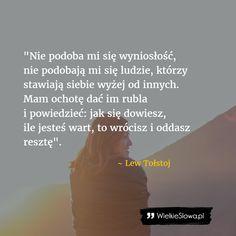 Nie podoba mi się wyniosłość... #Tołstoj-Lew,  #Pycha
