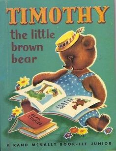 VINTAGE 1950's Children's Junior Elf Book~TIMOTHY THE LITTLE BROWN BEAR
