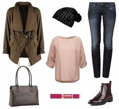 #Herbstoutfit Rosa Grün ♥ #outfit #Damenoutfit #outfitdestages #dresslove