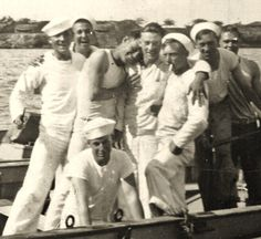 US Sailors at a moment of fellowship and true affection