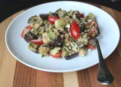 Mediterranean Grilled Vegetable Salad with Chickpeas
