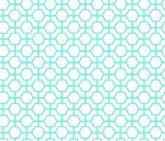 Turquoise Lattice fabric by fleamarkettrixie on Spoonflower - custom fabric