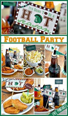 Football Party Free Printables at the36thavenue.com ...It's Football TIME! #superball
