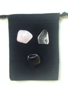 Anxiety Relief Healing Crystal Kit with Glass Bowl•Rose Clear and Smoky Quartz•Mercury Retrograde