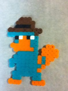-Perler- Perry the Platypus by OtakuLuka on deviantart