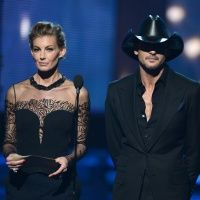 Faith Hill and Tim McGraw take the stage as presenters on the 55th Annual GRAMMY Awards