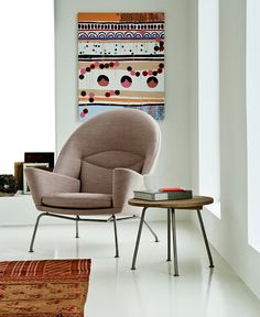 This Oculus Chair by Carl Hansen & Son is perfectly at home in its beautiful #interior. #seating #hauteliving