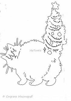 В прошлом году , этот кот вызвал большой интерес с удовольствием делюсь картинкой и шаблоном по которому его вырезала фото 3 Christmas Rock, Christmas Presents, Christmas Crafts, Christmas Decorations, Diy And Crafts, Paper Crafts, Art Inspiration Drawing, Xmas Tree, Diy Projects To Try