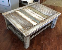 "Okay back to selling stuff :) This is an adorable rustic looking coffee table if I do say so myself. What do you think?  The dimensions are 34"" L, 31"" W, 17"" H. SOLD!! for $150"