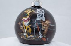 Hand-Painted-Ornament-Cat-as-Cowboy-Item-2049