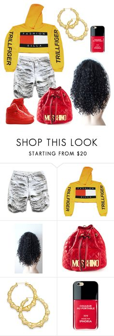 """""""#172:First Thang First I'm Da Trillest❣"""" by tyyanniharris ❤ liked on Polyvore featuring NIKE, Moschino, Thalia Sodi and Iphoria"""