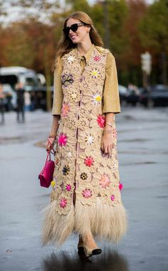Kristina Bazan from Street Style at Paris Fashion Week Sprin