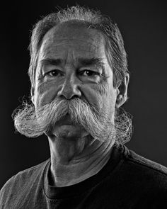 A local business man in Calgary, Rob has been growing his Mustache for 30 years. He hasn't had it cut in a decade! Types Of Mustaches, Cool Mustaches, Moustaches, Beard No Mustache, Handlebar Mustache, Mustache Styles, Face Hair, Beard Styles, Beards
