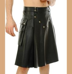 Leather Kilt, Cow Leather, Cowhide Leather, Black Leather, Man Skirt, Dress Skirt, Men Wearing Skirts, Utility Kilt, Men In Kilts