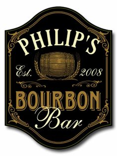 Bourbon wall sign for a bourbon lover.