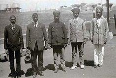 Five Indian Immigrants - Angel Island, California, 1910.