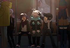 this is so cute?<< I love seeing them so happy *sobs* New Danganronpa V3, Super Danganronpa, Danganronpa Characters, Fanart, Images Aléatoires, Anime Manga, Anime Art, Nagisa Shiota, Ouma Kokichi