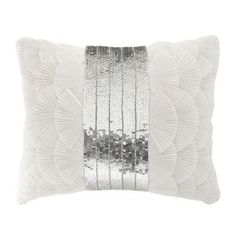 Star by Julien Macdonald Designer ivory pleated frill sequin cushion- at Debenhams Mobile