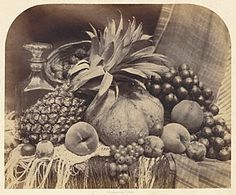 Still Life with Fruit and Decanter, Roger Fenton, 1860