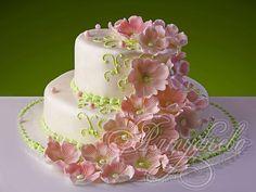 Свадебный торт «Цветочный вихрь»
