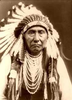 This is Chief Joseph, one of the many great Native American chiefs.  Find out who he is, learn his story and write down his famous quote in its entirety.