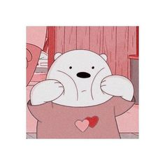 Dear Pink lover, make me this day … Bear Wallpaper, Kawaii Wallpaper, Disney Wallpaper, Ice Bear We Bare Bears, We Bear, Cartoon Icons, Cartoon Memes, Cartoons, Photo Panda