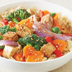 Sweet-Spicy Chicken and Vegetable Stir-Fry is totally versatile. Swap the chicken for pork, beef or tofu and use what ever vegetables you've got in your crisper drawer or in the freezer. Serve with hot cooked quinoa, rice or noodles.