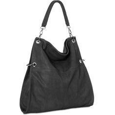 CASPAR Damen Tasche Handtasche Schultertasche Umhängetasche MessengerBag schwarz