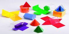 Figure geometriche solide da ritagliare e costruire