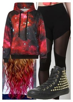 """Untitled #8508"" by carmellahowyoudoin ❤ liked on Polyvore featuring WithChic and Converse"