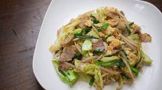 Chinese pork & cabbage stir-fry