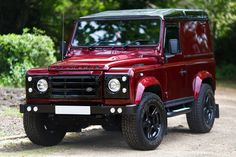 Land Rover Defender Black Edition... In red. #landroverdefender #landrover #defender #custom #blackedition #luxury #candyapple by shocksurplus Land Rover Defender Black Edition... In red. #landroverdefender #landrover #defender #custom #blackedition #luxury #candyapple