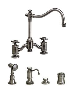 Bridge Faucet Suite with Cross Handles