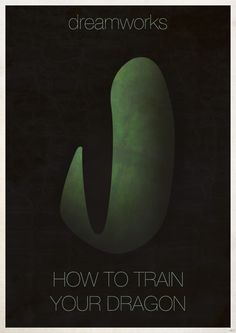 minimalist movie poster - how to train your dragon (..again)