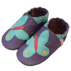 Mauve aqua butterfly shoes ...    margaretriverstompers.com.au