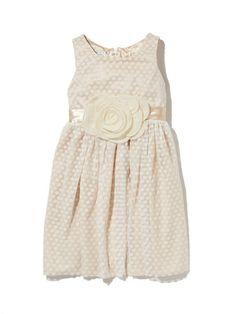 Dot Netting Dress with Satin Sash by Pippa & Julie at Gilt