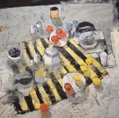 Gathering 48x48 Oil on Wood : Still Lifes, Paul Balmer