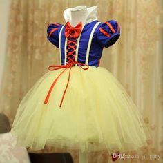 Dresses Little Girls New Design Girl Snow White Princess Costumes Cosplay Cute Kids Performance Clothes Cartoon Christmas Dress Party Clothing Navy Dresses For Girls From Jjl_baby, $15.99  Dhgate.Com
