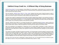Cathford Group Credit Inc.: A Different Way of Doing Business