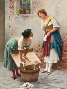 Eugene de Blaas, also known as Eugene von Blaas or Eugenio Blaas (24 July 1843 – 10 February 1932) was an Italian painter in the school known as Academic Classicism. He was born at Albano, near Rome, to Austrian parents.