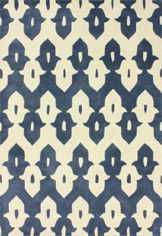 Rugs USA Tuscan Palace Ikat Trellis Cobalt Blue Rug - 5x8 $115.25, 6x9 $145.75, 7'6x9'6 $200.75