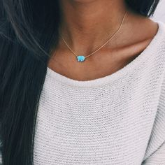 Blue Opal Ella Necklace ($39) ❤ liked on Polyvore featuring jewelry, necklaces, blue opal necklace, opal necklace, blue chain necklace, chain necklaces и pendant jewelry