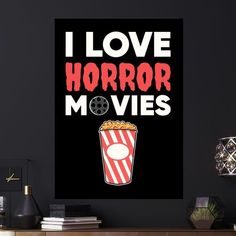 Metal Poster I Love Horror Movies
